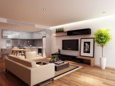 Vision on Morphett, SA Living Room, How To Plan, Open Plan, Property, Open Plan Living, Room