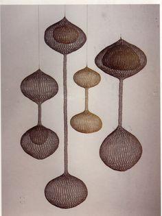 Ruth Asawa wire sculptures