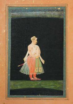 MAHARAJA SURAJ SINGH ATTRIBUTED TO MURAD REZA, PROBABLY BIKANER, NORTH INDIA, LATE 17TH OR EARLY 18TH CENTURY