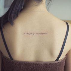 가족중 막내의 레터링 a happy moment . #tattoo#tattooist#tattooistsol#타투#레터링#lettering