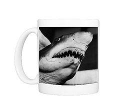 Shark! - circa 1955: A close-up of a hungry shark at the NYC aquarium on Coney Island, New York - Photo Mug - 11534862 - Fine Art Storehouse