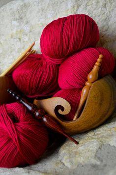 Furls Wooden Yarn Bowl