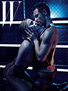 Michael Fassbender and Charlize Theron in W - so hot!