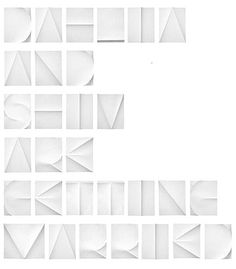 Creative Dahlia, Shiv, Married, Shiro, and Kuro image ideas & inspiration on Designspiration Cool Typography, Typography Letters, Typography Design, Typo Design, Identity Design, Lettering, Paper Art, Paper Crafts, Cut Paper