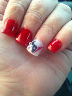 Houston Texans Day Nails