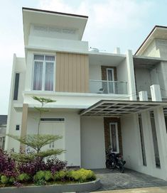 Small Apartments Are The Homes Of The Future Minimalist House Design, Small House Design, Minimalist Home, Dream House Plans, My Dream Home, Japanese Modern House, Rooftop Design, Canopy Design, House Elevation