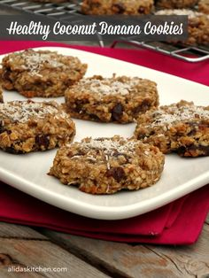 Healthy Coconut Banana Cookies via @alidaskitchen