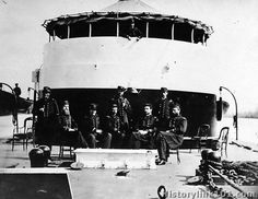 Group of officers on deck of monitor Mahapac