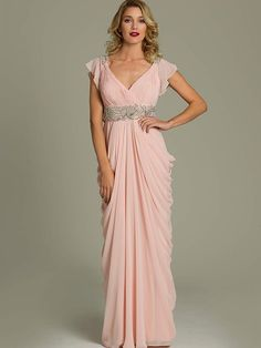 c6ba8390fad Beautiful blush pink dress for mother of the bride 2014 by Jovani with V -neckline