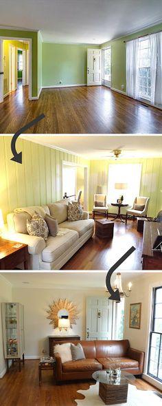 Living Room Progress in a 1950s Fixer Upper