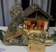 Click to Close Church Christmas Decorations, Christmas Crafts, Xmas, Nativity Stable, Small Sewing Projects, Barn Lighting, Miniature Houses, Christmas Pictures, Bird Houses
