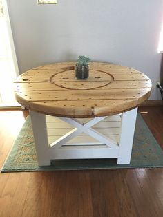 coffee table wooden coffee table upcycle furniture wooden spool table wood table