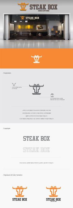 STEAK BOX / Design by devilfish / 스테이크 도시락 전문점인 STEAK BOX의 아이덴티티를 나타내기 위해 스테이크를 상징하는 소의 머리와 도시락을 결합해 감각적인 로고디자인으로 형상화 #스테이크 #도시락 #전문점 #판매 #소 #소고기 #steak #box #테이크아웃 #서비스 #스테이크도시락 #로고디자인 #로고 #디자인 #디자이너 #라우드소싱 #레퍼런스 #콘테스트 #logo #design #포트폴리오 #디자인의뢰 #공모전 #모더니즘 #맞팔 #심볼마크 #심볼 #일러스트 #작업 #color #타이포그래피 #아이콘 #곡선 #로고타입