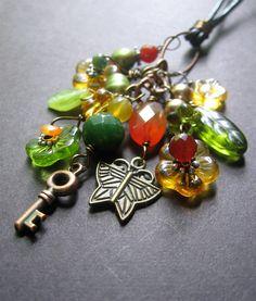 Gorgeous! Long Charm Necklace - Autumn Necklace