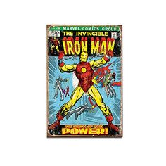 Iron Man Tin Sign Nostalgic Retro Funny Vintage Tin Sign Metal Wall Dcor Hanging Frame *** Click image for more details.Note:It is affiliate link to Amazon.