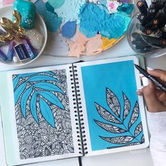 Doodle Art Drawing, Mandala Drawing, Watercolor Mandala, Watercolor Art, Mandala Art Lesson, Mandala Artwork, Doodle Art Designs, Canvas Painting Tutorials, Doodle Art Journals