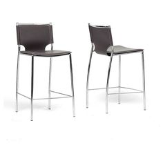 Baxton Studio Montclare Modern and Contemporary Bonded Leather Upholstered Modern Counter Stool