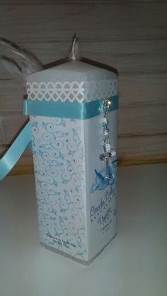Christening candle for baby boy!