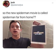 It's so funny bc at first i didnt notice the name of the title but after seeing this tweet its so funny bc Tom spoil us the movie again