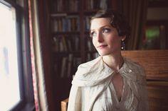 vintage 1930s wedding bride.. love her makeup!