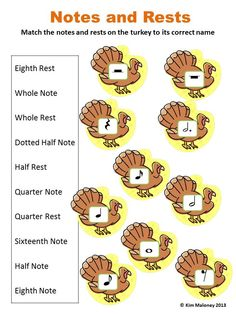 THANKSGIVING Themed Music Worksheets  24 worksheets