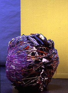 "Untitled, 2000-2002- 30""x 32""x16"" inches. All works are made from fiber, wood, cardboard, and fabric"