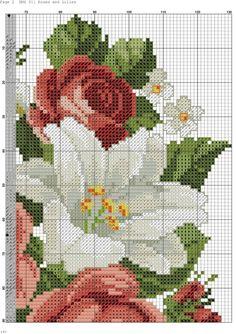 Вышивка «Розы и лилии». Обсуждение на LiveInternet - Российский Сервис Онлайн-Дневников