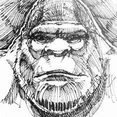 Bigfoot Sketch   Face