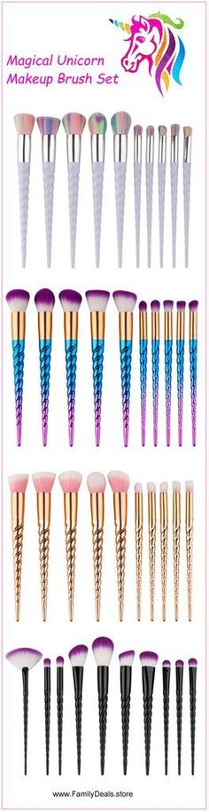 "From Only $19.98. ""Rainbow Unicorn Lashes"" - Unicorn Makeup Brush Set. Buy yours now at Sale Price from www.FamilyDeals.store and Celebrate with savings."