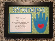 """My Hand"" poem for Father's Day"