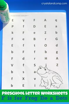 Letter F Worksheets Preschool Alphabet F sound printable coloring and tracing lower case letters to learn, write and identify letter F for preschool and kindergarden kids. Letter Worksheets For Preschool, Preschool Letters, Letter Activities, Alphabet Worksheets, Learning Letters, Preschool Kindergarten, Kindergarten Worksheets, Preschool Activities, Kids Learning