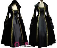 Renaissance Medieval Vintage Victorian Vampire Gothic Cosplay Dress Costume