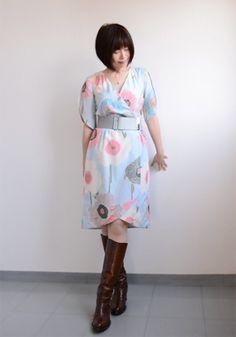Yoshimi's beautiful interpretation of the Nicola dress from Victory Patterns