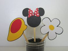 Minnie Mouse Cupcake Topper Picks by DKDeleKtables on Etsy, $8.00