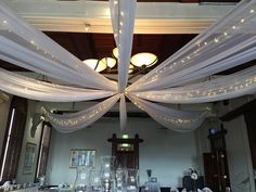 Ceiling draping with fairy lights give an understated elegance to any Sydney event. Contact Bespoke Social to learn more.