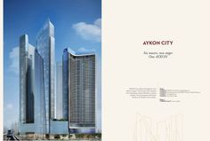 The project consists of 6 towers including Aykon Hotel & Residence which is 80 floors tall and considered the first hotel featuring luxurious suites in Dubai. The project includes also Damac Maison which has upscale apartments of comprehensive services scattered on 63 floors, in addition to a 60-storey tower, 65-storey office tower, and 2 other luxurious towers of 30 floors and magnificent sea view for Dubai Waterway and Al-Saffa garden. More Visit http://bit.ly/damac_aykon_city