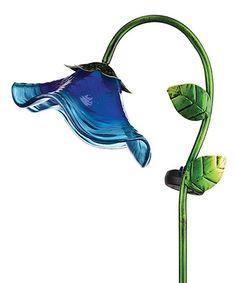 Look what I found on #zulily! Blue Solar Flower Stake #zulilyfinds
