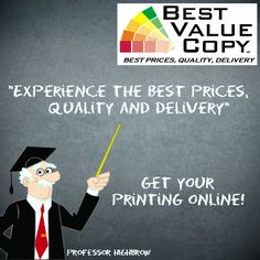 Best place to get copies made for big projects. Upload PDFs and they mail you your order to you. Black and white copies 2.5 cents, color copies 9 cents. Shipping can double the cost if it's a small order, but still awesome for color copies especially. Search for coupon codes, too.