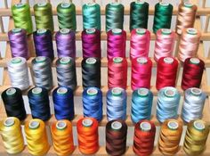 40 Large Spools Embroidery Threads for Brother Machine - 500 Meters Spools: http://www.amazon.com/Spools-Embroidery-Threads-Brother-Machine/dp/B003ATLHXC/?tag=greavidesto05-20
