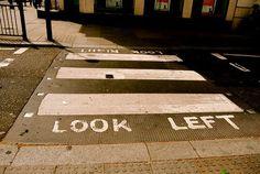 Londen England - LOOK LEFT