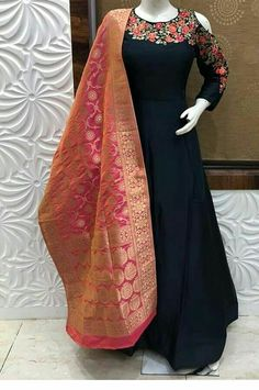 Custom made party wear Indian Outfits Inquiries➡️ nivetasfashion whatsapp Direct from INDIA Nivetas Design Studio We ship worldwide At very reasonable Prices lehengas - punjabi sui Indian Fashion Dresses, Indian Gowns Dresses, Dress Indian Style, Indian Wear, Indian Outfits, Party Wear Indian Dresses, Designer Party Wear Dresses, Kurti Designs Party Wear, Salwar Designs