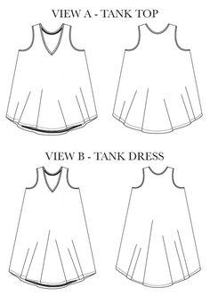 Chalk and Notch Women's Pony Tank and Dress PDF Pattern