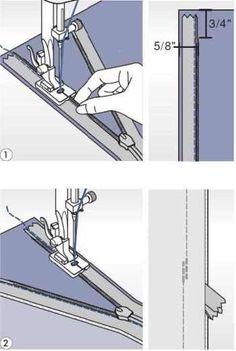 Patka na krytý zip pro šicí stroje Lucznik