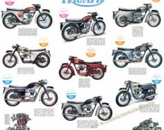 This is a high quality, lightfast digital print reproduced from an original brochure for the 1960 Matchless range. Matchless models shown are G2, G3, G9, C2CS, G12, G3C, G50, G5, G80, G12, G80CS, G12CSR, G12CS The poster measures 73 x 49cm with a 2cm white border all round. It is printed on professional wide format Epson machinery in archival ink on high quality 230gsm Photo Matte paper. Lightfast and ideal for framing. One of a range of classic images in print and poster form.  UK p&p £3...