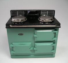 Green Aga stove
