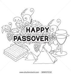 Jewish Holiday Passover Symbols Doodles Set Stock Vector 379296463 ...