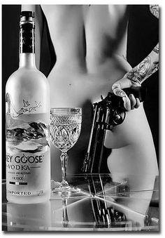 "Body Sexy Girl with Gun Grey GOOSE Vodka Fridge Magnet Size 2 5"" x 3 5""   eBay"