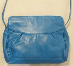 1980s Turquoise Leather Shoulder Bag from Tano by GoodBuyForNow on Etsy