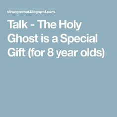 """This is a talk I have used when asked to speak about the Holy Ghost at Stake Youth Baptisms. I have also used it at our """"Baptism Fireside"""" a. Lds Object Lessons, Fhe Lessons, Bible Lessons For Kids, Holy Ghost Lesson, Holy Ghost Talk, Primary Talks, Lds Talks, Church Readings, Baptism Talk"""