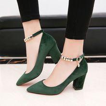 Zapatos de Mujer 2017 Nuevo Ante de La Boca baja Con Las Mujeres Zapatos de Tacón Alto 34-39 Zapatos de Mujer chaussure femme garra Sapato Feminino